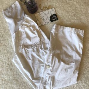 Motherhood Maternity White Pants